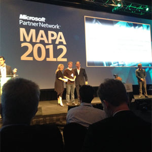 Our director, Tony Bain, receiving the MAPA award